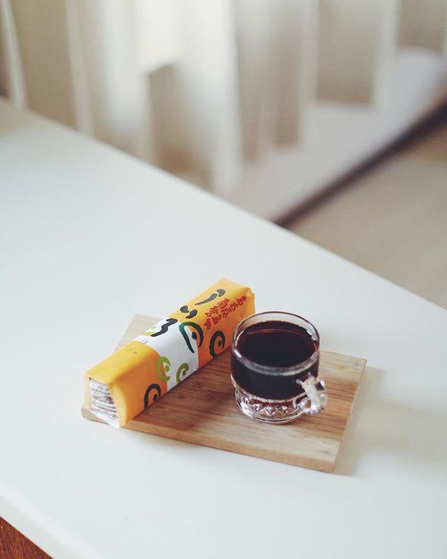 名古屋名物 菊屋乃ういろでグッドモーニングコーヒー。モッチモチのフワフワのトロトロ。うまい! (Instagram)
