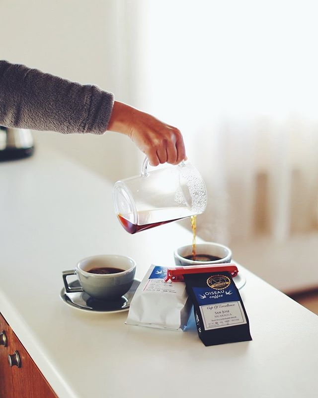 グッドモーニングコーヒー。今週の豆は #オワゾーコーヒー のCOE ニカラグアSAN JOSEとエチオピアコンガ。うまい!...#oiseaucoffee (Instagram)