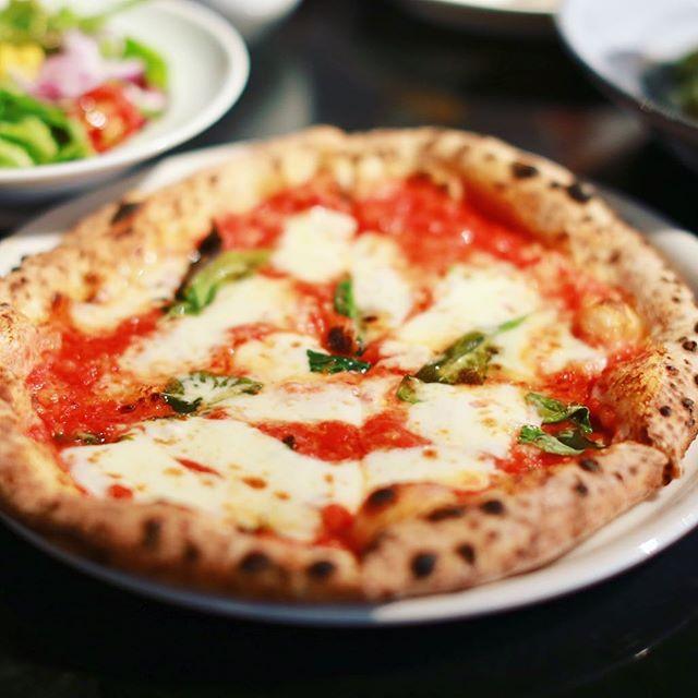 名城公園のGARB Castelloにピザ食べに来たよ。マルゲリータ。うまい!#オニマガ名古屋散歩 (Instagram)