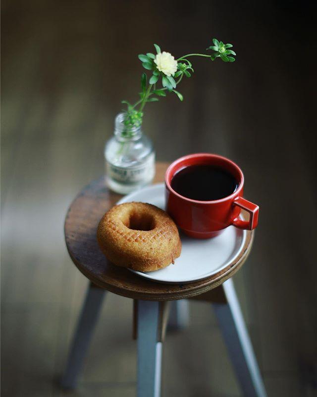 Captain's Donut&コーヒーで3時のおやつタイム。うまい! (Instagram)
