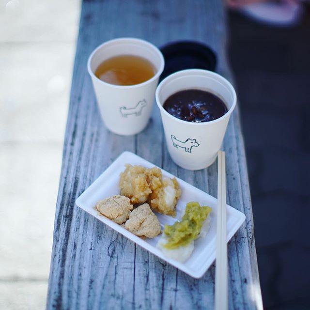 Maison YWEのぜんざいスタンドでおやつタイム。雑穀と塩胡桃のぜんざい&つきたてのお餅いろいろでお正月感。うまい!#オニマガ名古屋散歩 (Instagram)