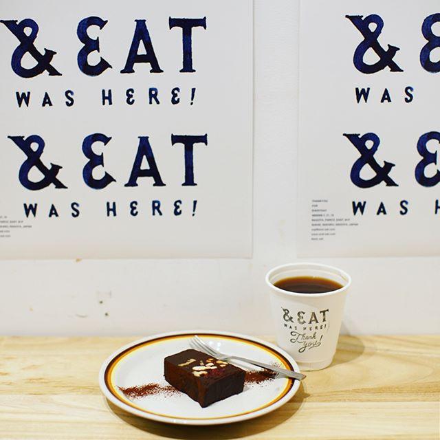 &EATにおやつ食べに来たよ。コーヒー&ショコラテリーヌ。うまい!#オニマガ名古屋散歩 #andeatwashere (Instagram)