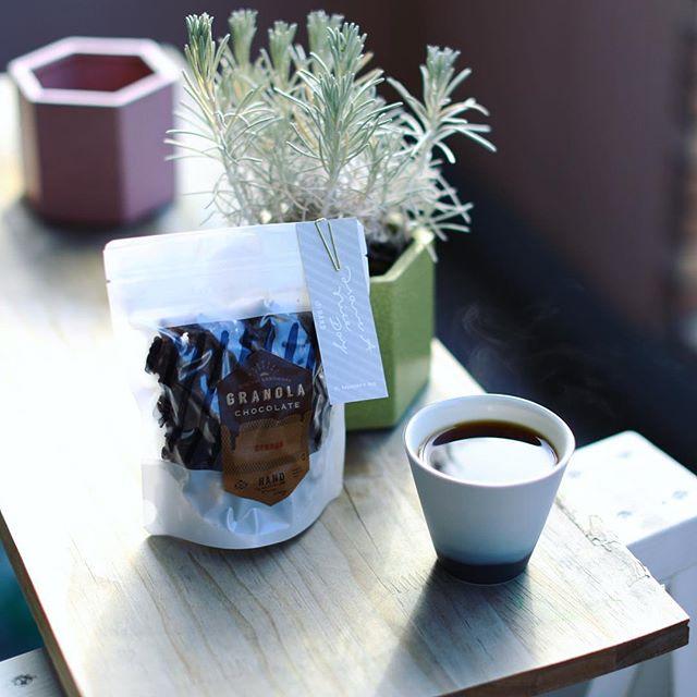 HANDさんのグラノーラチョコオレンジでグッドモーニングコーヒー。ベストマッチ!うまい!-#handhaveaniceday #ハンド (Instagram)