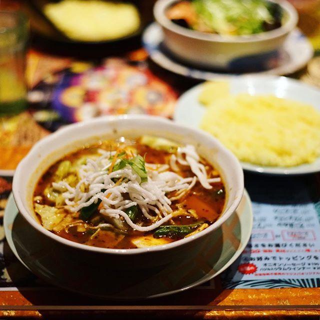大須のマジックスパイスにスープカレー食べに来たよ。トマトベースのハンバーグカレー涅槃。うまい!#オニマガ名古屋散歩 (Instagram)