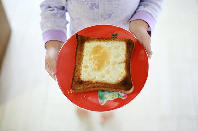 グッドモーニング!チーズトーストが焼き上がりましたよー。うまい! (Instagram)