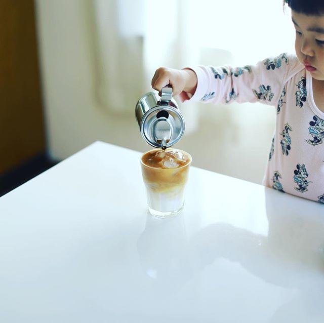 グッドモーニングアイスカフェオレ。上手にできた!うまい! (Instagram)