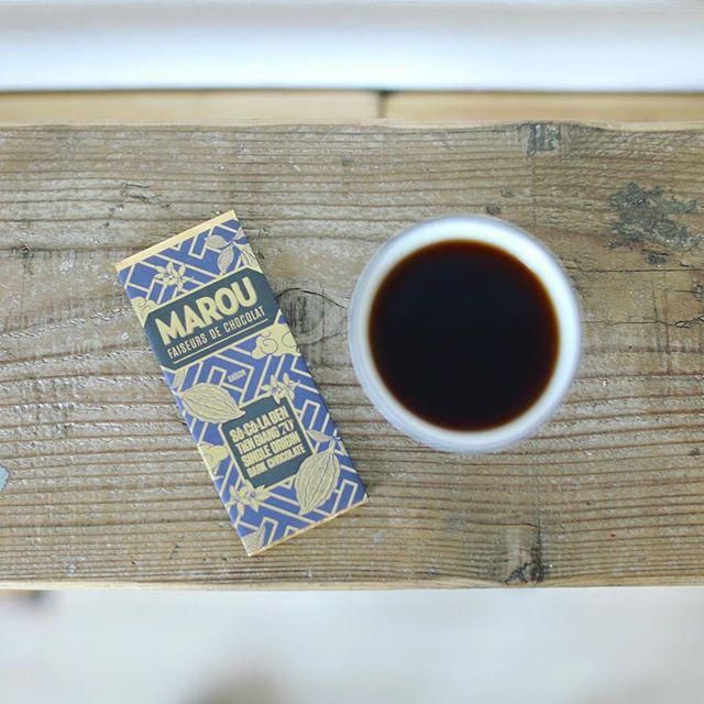 ベトナム土産のMAROU Faiseurs de Chocolatでグッドモーニングコーヒー。うまい! (Instagram)