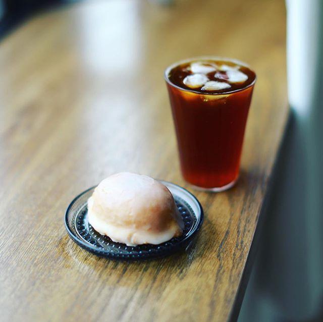 お菓子屋riettoさんのレモンケーキで3時のコーヒータイム。うまい!#東別院手づくり朝市 #rietto (Instagram)