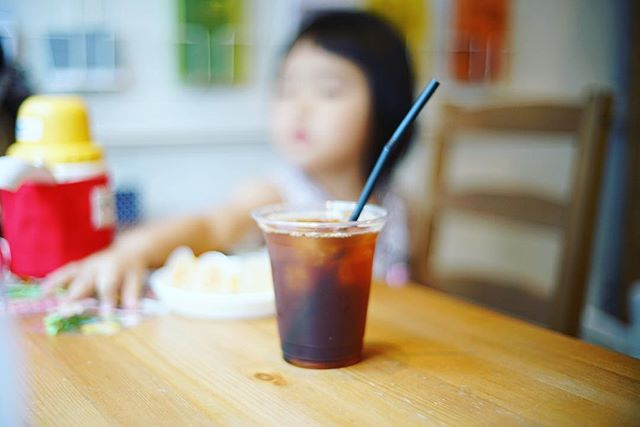 Mondで我が子と一緒に3時のおやつ休憩。うまい!#オニマガ名古屋散歩 (Instagram)