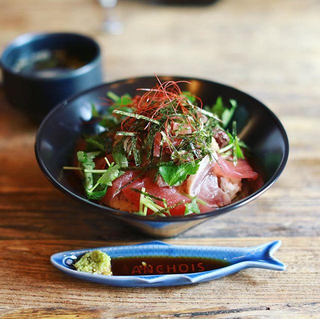 伏見のMAGURO'N KITCHEN(マグロンキッチン)にまぐろランチ食べに来たよ。マグロン丼。うまい!#オニマガ名古屋散歩 (Instagram)