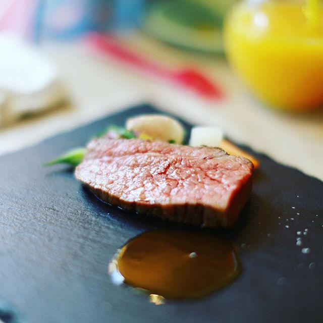 新栄のルクプルダテにお昼ごはん食べに来たよ。飛騨牛ランチコース。うまい!#オニマガ名古屋散歩 (Instagram)