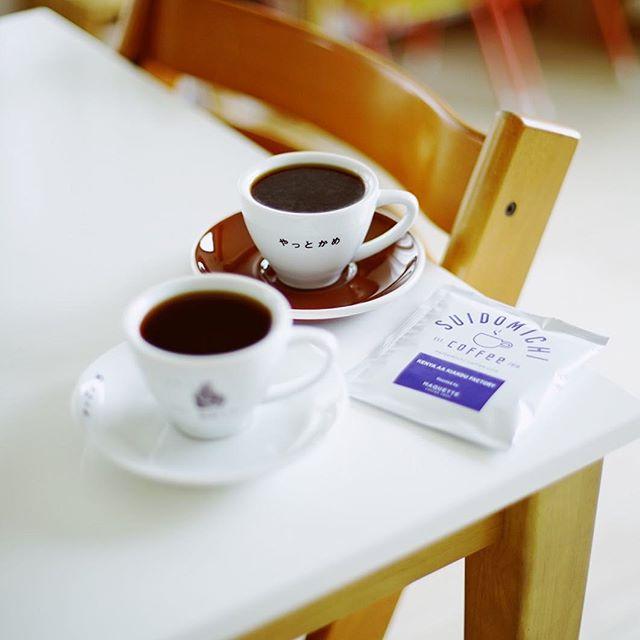 SUIDOMICHI coffeeでお土産にもらったドリップバッグでグッドモーニングコーヒー。豆はMAQUETTE COFFEE SHOPのKenya AA Kiandu factory。うまい!-#ef50mmf14 (Instagram)