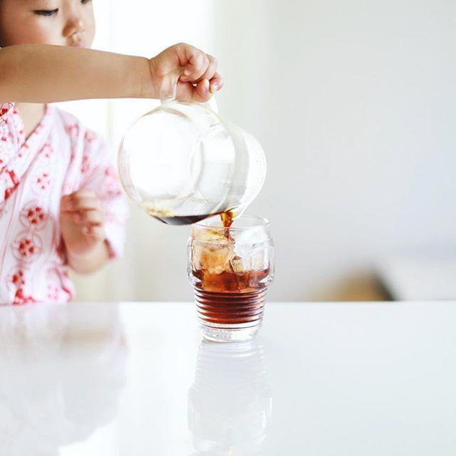 グッドモーニングアイスコーヒー。上手に注げた。うまい! (Instagram)