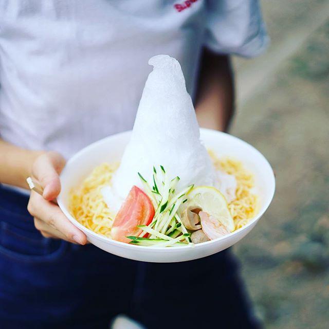 東別院手づくり朝市に遊びに来たよ。サワディーCarのトムヤム冷麺。うまい!#オニマガ名古屋散歩 (Instagram)