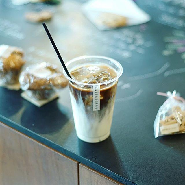 KANNON COFFEEで3時のアイスラテ休憩。うまい!-#ef50mmf18stm (Instagram)