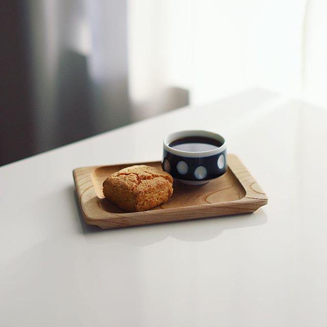 おすそ分けでもらった福島のbo-shi coffeeと、スーリープーのスコーンでグッドモーニングコーヒー。うまい! (Instagram)
