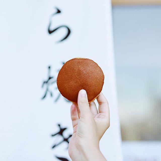 荒畑のまあるい月でどら焼きタイム。うまい!#オニマガ名古屋散歩 #まあるい月 (Instagram)